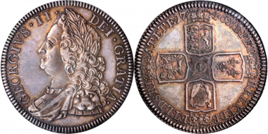 Lot 13182, GREAT BRITAIN. Crown, 1746. PCGS PROOF-65 Secure Holder. Realized $23,500.