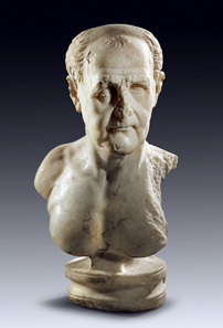 5: Portrait bust of an aged Roman. Trajanic, 1st quarter of 1st cent. A. D. White, finely crystalline marble. H. 59 cm. Estimate: 90,000 euros. End result: 150,000 euros.