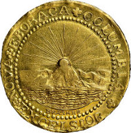 5100: 1787 DBLN Brasher Doubloon, EB on Wing, W-5840, MS63 NGC. CAC. Realized: $4,582,500.