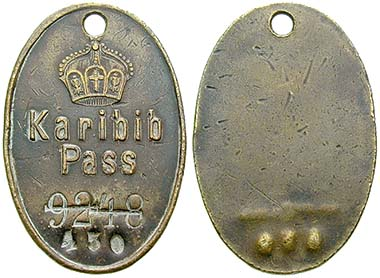 Ord. no. 45543 - Identification badge. Very fine. 600.- Euros.