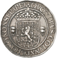 Lot 2246: SCOTLAND, Mary ( 1542-1567). Silver medal, 1565 (on her wedding with Henry Stuart, Lord Darnley on July 29). Hawkins p. 115. 44. Very rare. Very fine. Estimate: 750,- euros. Hammer price: 9,500,- euros.