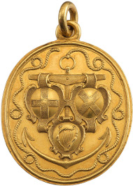 Lot 366 - The Naval Reward for Captains, a gold medal, 1653. Sold for £44,000.