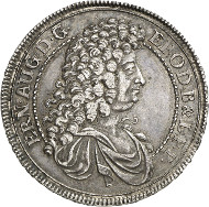 Lot 3085: BRUNSWICK-CELLE / CALENBERG. Ernest Augustus of Calenberg, 1679-1698. Mining thaler 1684 HB. Clausthal Mint. About extremely fine. Estimate: 1,200,- euros. Hammer price: 4,600,- euros.