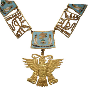 Lot 757: ORDERS / MEXICO. Mexican Order of the Aztec Eagle. Extremely rare. I. Estimate: 10,000,- euros. Hammer price: 22,000,- euros.