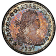 1103: 1797 Draped Bust Half Dollar. Overton-101a. Rarity-4+. MS-66 (PCGS). Estimate: $1,200,000-$1,750,000. Price Realized: $1,527,500.