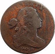 Draped Bust Large Cent, 1799, LDS, 1¢, VG10 , PCGS. Price: $11,000.