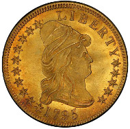 Lot 2092: 1795 Capped Bust Right Eagle. Bass Dannreuther-4. Rarity-5. 13 Leaves. Mint State-66+ (PCGS). Price Realized: $2,585,000.00.
