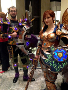 Attendees of a Dragon Con 2014, wearing characteristic World of Warcraft costumes. Photograph: Amy / https://creativecommons.org/licenses/by/2.0/deed.en