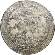 Lot 73: BRUNSWICK-WOLFENBÜTTEL. August the Younger, 1635-1666. Löser of 10 reichsthaler 1638, Zellerfeld. Very rare. Extremely fine. Estimate: 40,000,- GBP. Hammer price: 220,000.- GBP.