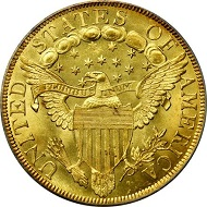 Lot 13198: 1799 Capped Bust Right Eagle. BD-10, Taraszka-22. Rarity-3. Large Obverse Stars. MS-66 (PCGS). CAC. OGH. Sold $493,500.