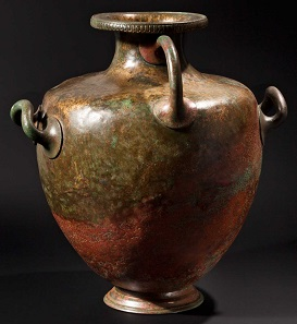 Lot 4554: A Greek bronze kalpis with votive inscription, 4th century B.C. Sold at 25,000 Euros.