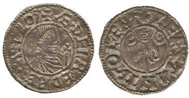 AS035: Aethelred II, Silver Penny, Benediction Hand type (c.991), Canterbury mint. BMC type IIf; N 769; S 1147. Very fine, extremely rare. £6,000.