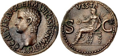 Lot 431914: Roman Republic. Gaius (Caligula). AD 37-41. As. $2,450.