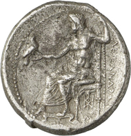 Lot 163: ALEXANDER III, 336-323 (Macedonia). Decadrachm, 325/3 Babylon. Extremely rare. Very fine. Estimate: 25,000,- euros. Hammer price: 54,000,- euros.