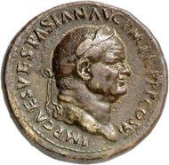 Lot 545: VESPASIAN, 69-79. Sestertius 75, Rome. Rv. Temple of Jupiter Capitolinus. Extremely rare. Good very fine. Estimate: 2,500,- euros. Hammer price: 14,000,- euros.