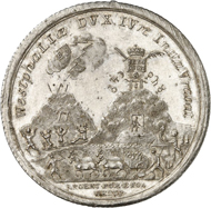 Lot 2823: COLOGNE (pre-1871 Germany). Clemens August of Bavaria, 1723-1761. Mining taler 1759, Bonn or Coblence. Minted from Westphalian fine silver on the reopening of the mines and the resumption of mining at Ramsbeck. Very rare. Extremely fine. Estimate: 15,000,- euros. Hammer price: 18,500,- euros.