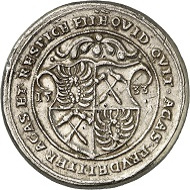 Lot 1596. HRE. Cast silver medal 1533 of Count Nicola III of Zrinski. Minted from silver yielded from the Zrinski mountains. Extremely rare. Very fine, cast of the time. Estimate: 500 GBP. Hammer price: 10,000 GBP.