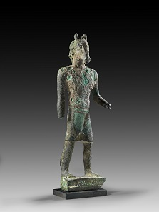Lot 23: Donkey-headed demon. Ca. 3rd cent. AD. H 27 cm. Hollow bronze cast. From K.M. Collection, Thuringia. Estimate: 3,000,- euros. Hammer price: 46,000,- euros.