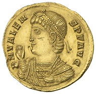 1.5 solidus of Valens, Trier, AD 367. Photo: ©NNC.