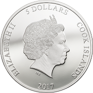 Cook Islands / 5 Dollars / Silver .999 / 1 oz / 38.61 mm / Mintage: 5000.