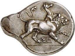 Lot 158: Sikyon (Peloponnesos). Stater, 431-400. From Lockett Coll., SNG 2323, and Pozzi Coll. (1920), 1799. Rare. Very fine to extremely fine. Estimate: 1,500,- euros. Hammer price: 7,000,- euros.
