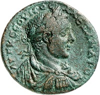 Lot 753: Severus Alexander, 222-235. Amaseia (Pontus). AE, year 228 (= 225/6). 2nd known specimen. Very fine / almost extremely fine. Estimate: 1,000,- euros. Hammer price: 7,000,- euros.