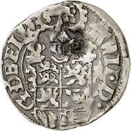 Lot 3025: Braunschweig-Harburg. Wilhelm, 1603-1642. 1/16 taler (double schilling) 1617, Harburg, with the title of Matthias. Very rare. Very fine. Estimate: 150,- euros. Hammer price: 2,400,- euros.