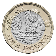 The new British 1 Pound Coin.