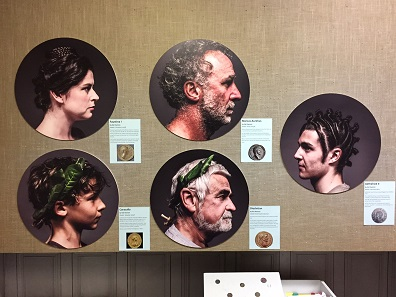 Innovative use of modern photography to recreate hairstyles depicted on coins. Photo: Henry Flynn.