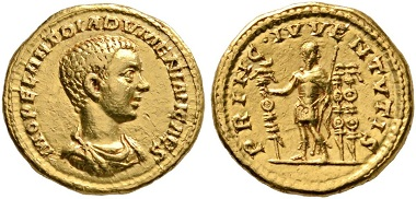 237 - Diadumenian as Caesar. Aureus. FORGERY!!!