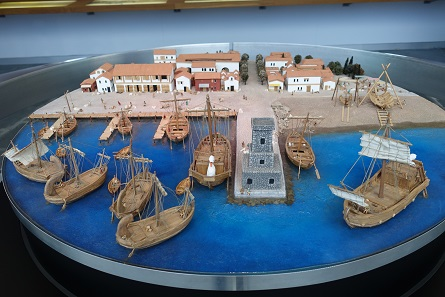 Cartagena harbour in Phoenician and Roman times. Photo: KW.