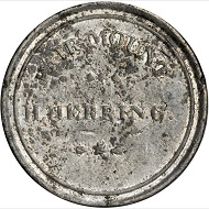 Lot 9024: Maryland-Baltimore. 1834 H. Herring. HT-139, Low-173. Rarity-9. White Metal. Plain Edge. 35 mm. VF-20. Realized: $16,450.