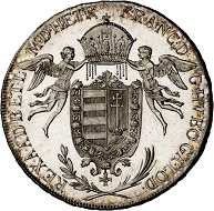 293 / Lot 1653: Francis II, 1792-1804. Konventionstaler 1792, Vienna. Königstaler for Hungary. Very rare. First strike. Almost FDC. Estimate: 7,500,- euros. Hammer price: 24,000,- euros.