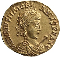 Such a solidus of Marjorian is the youngest coin found in the Lienden hoard. Photo: De Nederlandsche Bank.