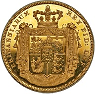 Great Britain. George IV gold Proof 5 Pounds 1826. PR64 Ultra Cameo NGC. Royal mint. Realized: 305,500 USD.
