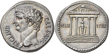 Lot 173: Claudius, 41-54. Cistophorus, Ephesus, 41-42 (?). Virtually as struck. Estimate: 20,000 CHF.