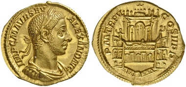 Lot 543: Aureus of Severus Alexander, 226, AV 5.86 g.
