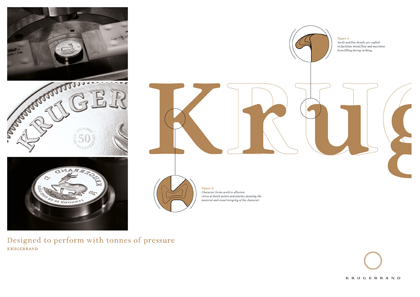 Information sheet on the Krugerrand font. Source: South Africa Mint.