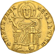 Lot 245: Byzantine Empire. Alexander. Solidus 912/913. Constantinopolis. Extremely rare. Almost extremely fine. Estimate: 20'000 CHF.