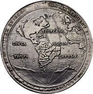Lot 2569: Cuba under Spanish rule. Philipp IV. Silver-box medal. Capture of the Spanish fleet by the Dutch Vice-admiral van Trappen. Almost extremely fine. Estimate: 8'000 CHF.