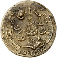 295 / Lot 709: Nero, 54-68. Sestertius, ca. 67, Lugdunum. From Leu sale 57 (1993), No. 254. Very rare. Almost extremely fine. Estimate: 20,000,- euros. Hammer price: 46,000,- euros.