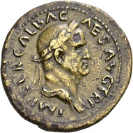 Galba, 68-69. Sestertius, September 68. Rv. AVGVSTA / SC Livia enthroned l., holding scepter and patera. RIC 336. Tiber patina. Very fine. Estimate: 1,000 CHF. From the Galba Collection, Hess-Divo sale 333 (November 30, 2017), No. 122.