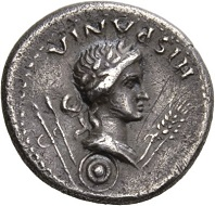 Galba, 68-69. Denarius, Tarraco, April-late 68. GALBA IMP Galba riding l., r. hand raised to address. Rv. HISPANIA Bust of Hispania l., two javelins over l. shoulder, two corn-ears in front, round shield below neck truncation. RIC 2. Toned. Very fine+. Estimate: 500 CHF. From the Galba Collection, Hess-Divo sale 333 (November 30, 2017), No. 95.