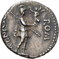 Galba, 68-70. Denarius, Spain. BON EVENT Head of Bonus Eventus r. Rv. ROM – RENASC Roma standing r., holding Victoriola in extended r., who crowns her. RIC 9. Extremely fine. Estimate: 1,500 CHF. From the Galba Collection, Hess-Divo sale 333 (November 30, 2017), No. 88.
