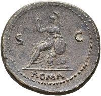 Galba, 68-69. Sestertius, Rome, June-August 68. SER GALBA IMP – CAES AVG TR P Draped bust with wreath of oak leaves r. Rv. ROMA / S-C Roma sitting on cuirass l. RIC 247. Red-brown patina. High relief. Very fine+ / Very fine. Estimate: 2,500 CHF. From the Galba Collection, Hess-Divo sale 333 (November 30, 2017), No. 105.