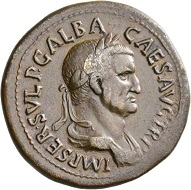 Galba, 68-69. Sestertius, Rome, August-September 68. Rv. LIBERTAS – PVBLICA / S-C Libertas standing l., with pileus and scepter. RIC 309. Light brown toning. Very fine+ / Very fine. Estimate: 1,250 CHF. From the Galba Collection, Hess-Divo sale 333 (November 30, 2017), No. 117.