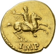 Galba, 68-69. Aureus, July 68-January 69. Rv. Galba riding r., wearing military dress, r. hand raised to address. RIC 227. Almost extremely fine. Estimate: 5,000 CHF. From the Montagu Collection. From the Galba Collection, Hess-Divo sale 333 (November 30, 2017), No. 151.