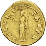 Otho, 69. Aureus. Rv. SECVR-I-TAS PR Securitas standing l., holding scepter and wreath. RIC 7. Very fine. Estimate: 5,000 CHF. From the Galba Collection, Hess-Divo sale 333 (November 30, 2017), No. 154.