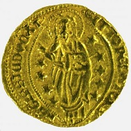 Gold ducat minted in Chios of Filippo Maria Visconti, 1421-1436. Photo credit: Princeton University Library Numismatic Collection.