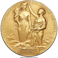 Nobel Prize for Advancement in Literature, awarded to Theodor Mommsen in 1902.